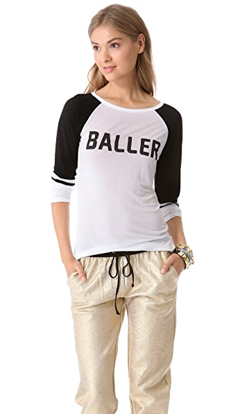 STYLESTALKER Baller Raglan Top