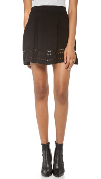 STYLESTALKER Holed Out Skirt