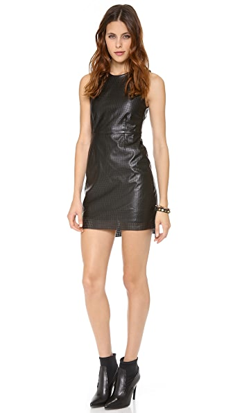 STYLESTALKER Hoop Dreams Faux Leather Dress