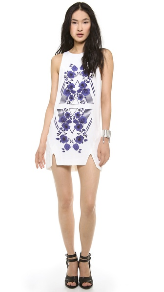 STYLESTALKER Chevron Rose Dress