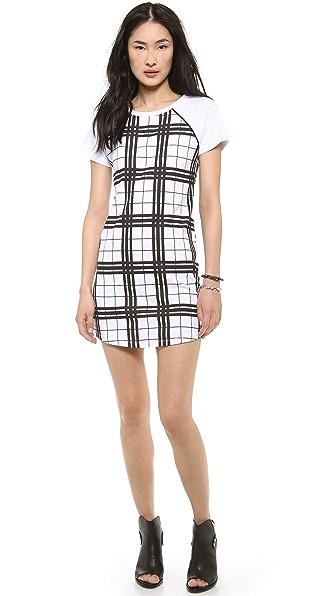 STYLESTALKER Check Print Tee Dress