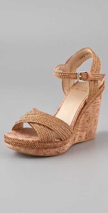 Stuart Weitzman Minx Platform Wedge Sandals