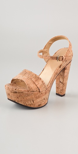 Stuart Weitzman Once Cork Sandals