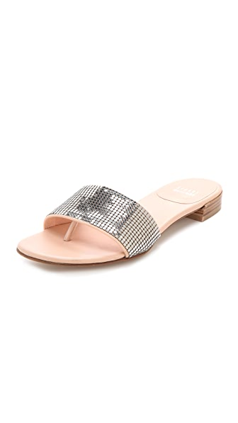 Stuart Weitzman Mailroom Chainmail Slide Sandals