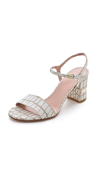 Stuart Weitzman Solo Low Heel Sandals