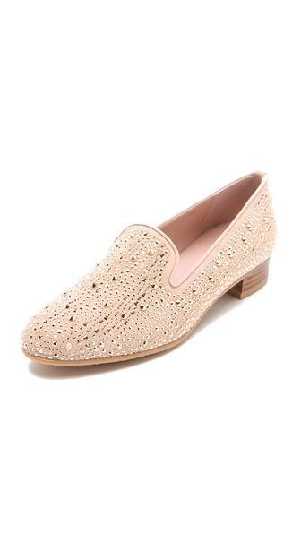 Stuart Weitzman Slipbeads Studded Loafers