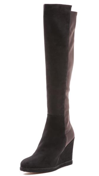 Stuart Weitzman Demiswoon Suede Wedge Boots