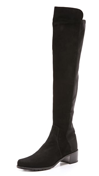 Stuart Weitzman Reserve Stretch Suede Boots