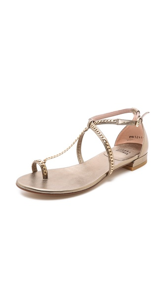Stuart Weitzman Shackle Chain Flat Sandals
