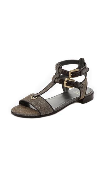 Stuart Weitzman Artsy Flat Sandals