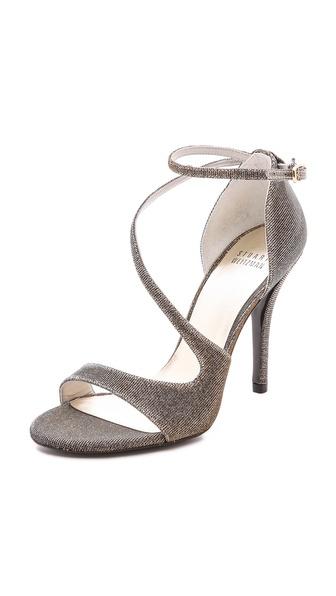 Stuart Weitzman Vixen Cross Strap Sandals