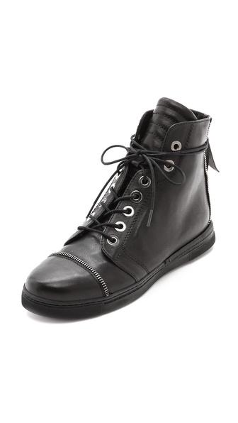 Stuart Weitzman Zipit High Top Sneakers