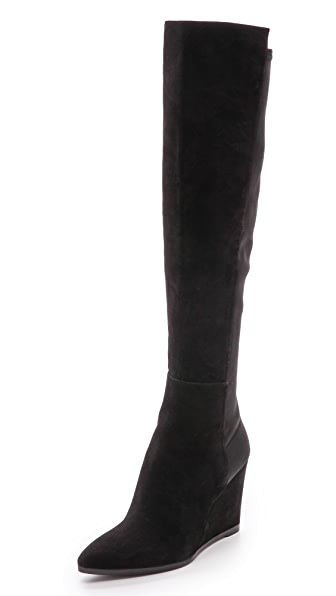 Stuart Weitzman Demivoom Wedge Stretch Boots
