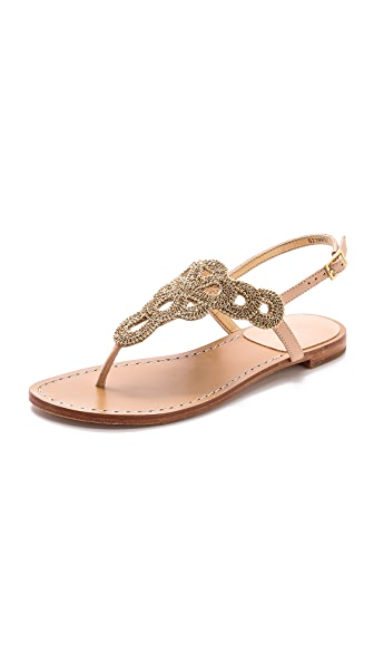 Stuart Weitzman Sugarbaby Embellished Sandals