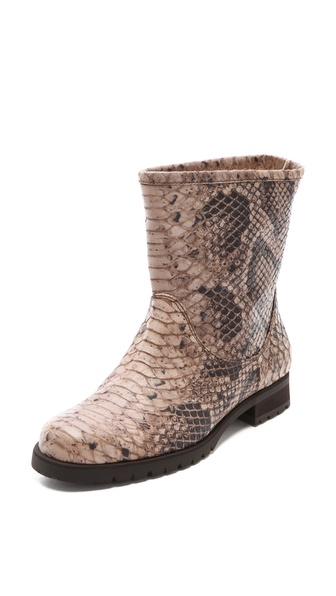 Studio Pollini Python Print Flat Booties