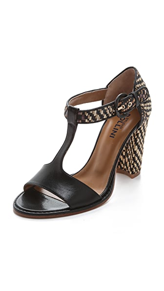 Studio Pollini Raffia High Heel Sandals