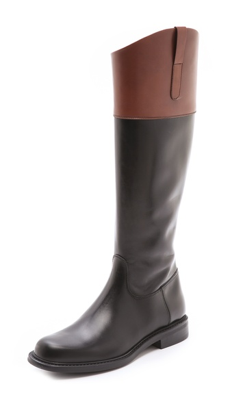 Studio Pollini Two Tone Riding Boots
