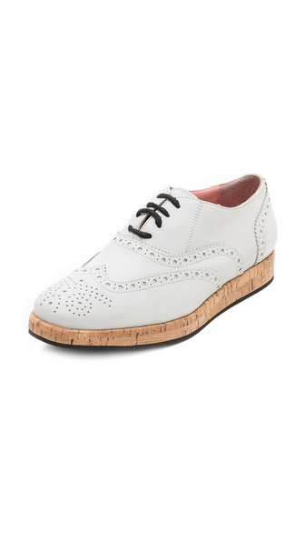 Studio Pollini Cork Wedge Oxfords