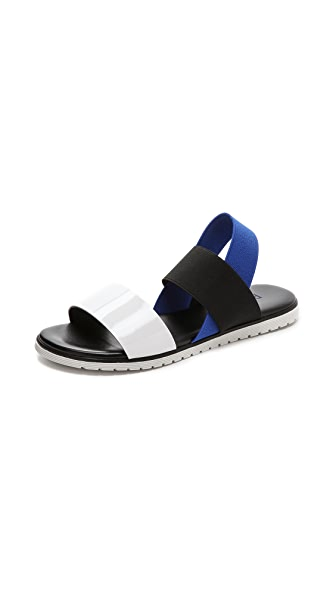 Studio Pollini Sling Flat Sandals