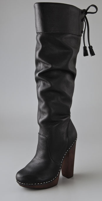 Steven Gwenn Over the Knee Platform Boots