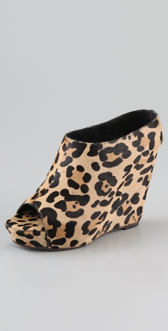 Steven Wauwi Haircalf Wedge Heels