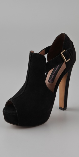Steven Gallah Open Toe Booties