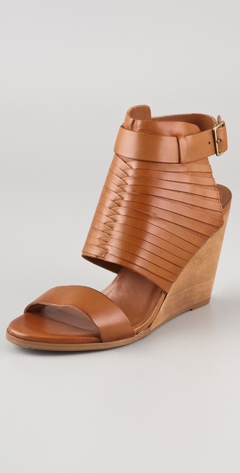 Steven Janell Slotted Wedge Sandals