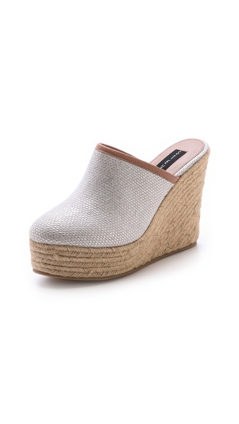 Steven Wonder Espadrille Mules - Metallic at Shopbop / East Dane
