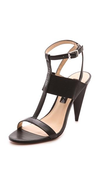 lolaa cone heel sandals