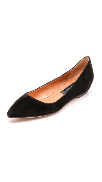 Steven Garnur Point Toe Wedge Flats