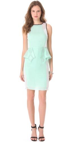 Suboo Take Me to Monaco Peplum Dress