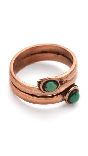 SunaharA Malibu Turquoise Mid Knuckle Ring