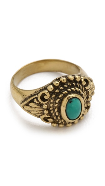 SunaharA Malibu Turquoise Eye Mid Knuckle Ring