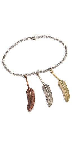 SunaharA Malibu Three Feather Anklet