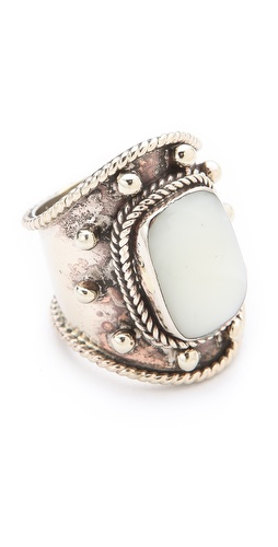 SunaharA Malibu Medium Stone Wrap Ring