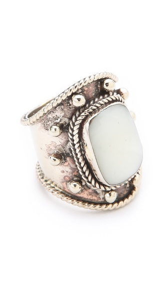 SunaharA Malibu Medium Stone Wrap Ring