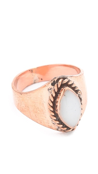 SunaharA Malibu White Stone Mid Knuckle Ring
