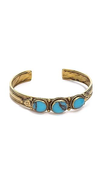 SunaharA Malibu 3 Stone Cuff Bracelet