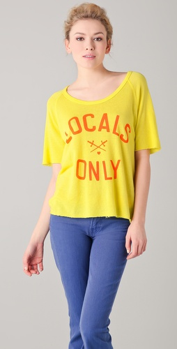 SUNDRY Locals Only Short Sleeve Raglan Tee