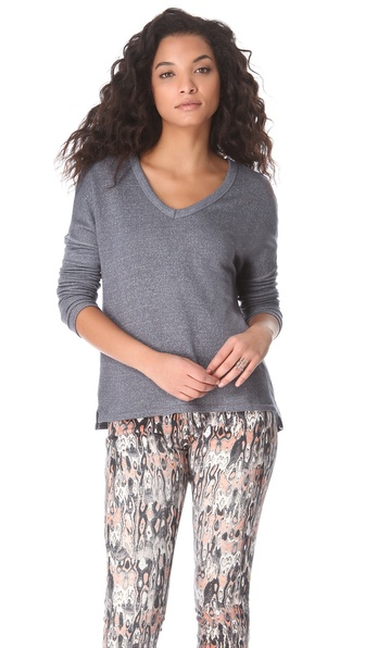 SUNDRY Long Sleeve Boxy Tee