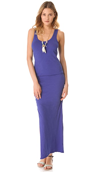SUNDRY Long Ruched Dress