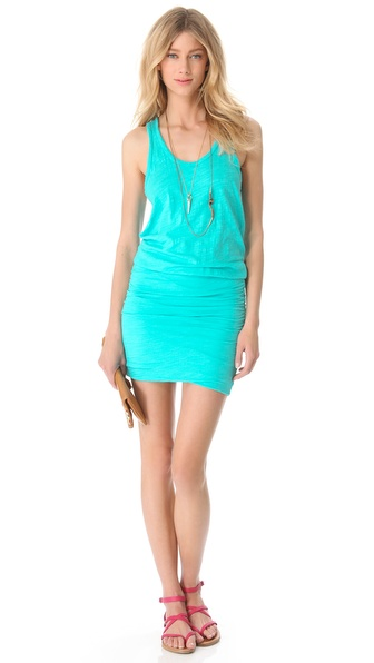 SUNDRY Ruched Tank Dress