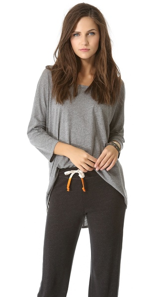 SUNDRY Slouchy 3/4 Sleeve Top