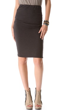 SUNDRY Ruched Pencil Skirt