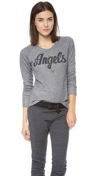 SUNDRY Angels Raglan Top