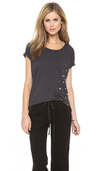 SUNDRY Loose Scoop Neck Tee