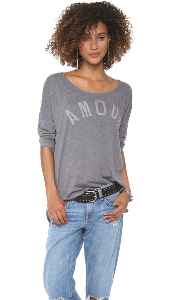 SUNDRY Amour 3/4 Sleeve Top