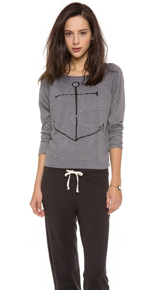 SUNDRY Anchor Long Sleeve Top