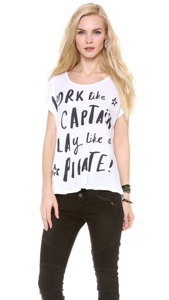 SUNDRY Work Like A Captain, Play Like APirate Tee