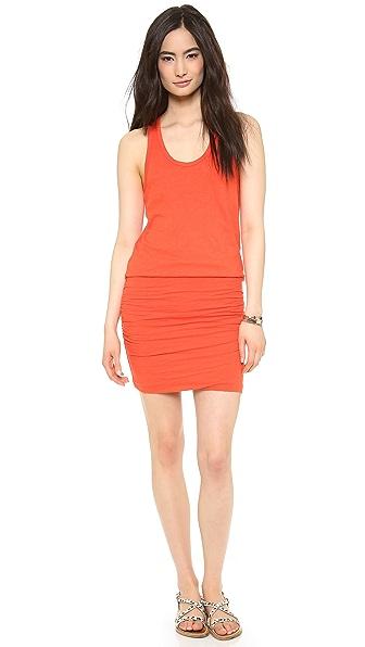 SUNDRY Ruched Tank Dress